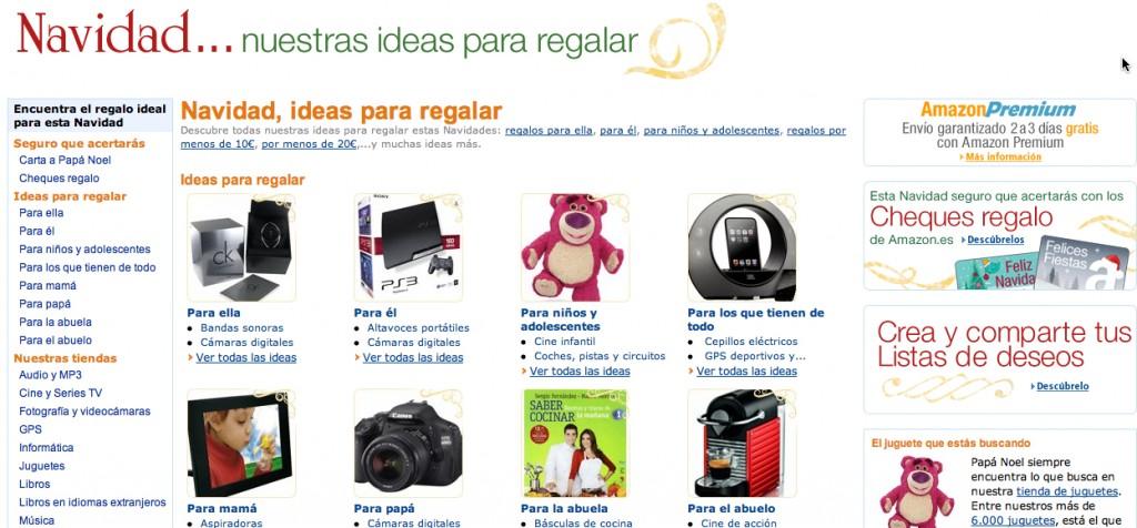 Ejemplo copy Navidad de Amazon